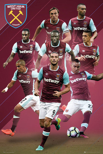 West Ham United 8-Players In Action Official EPL Soccer Football Poster - GB Eye 2016/17