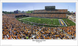"West Virginia Football ""Gold Rush"" Mountaineer Field Panoramic Poster - SPI 2007"