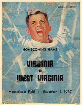West Virginia Football 1947 Vintage Program Cover Poster Print - Asgard Press