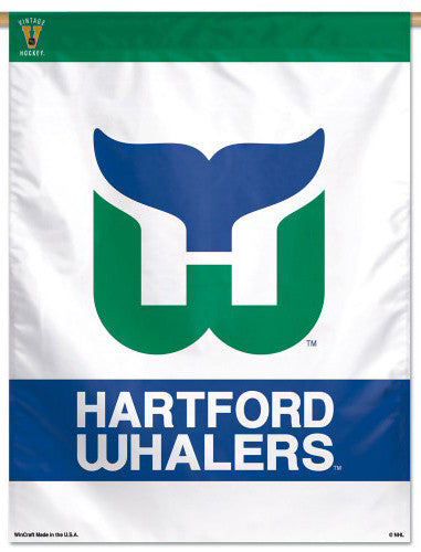Hartford Whalers NHL Hockey Vintage Collection Premium Collector's Wall Banner - Wincraft Inc.