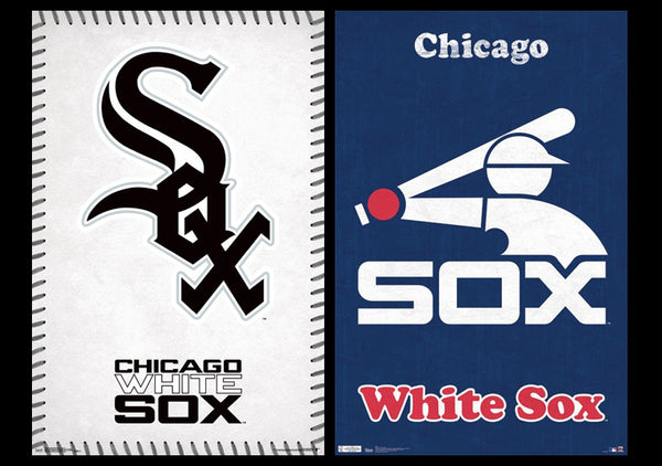 Chicago White Sox MLB Baseball Team 2-Poster Combo (Retro & Modern Styles) - Trends International