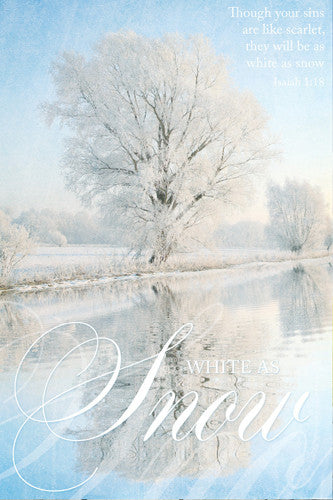 White As Snow (Isaiah 1:18) Biblical Redemption Inspirational Wisdom Poster - Slingshot Publishing
