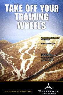 "Whiteface Mountain ""Training Wheels"" Skiing Poster - Whiteface 2010"