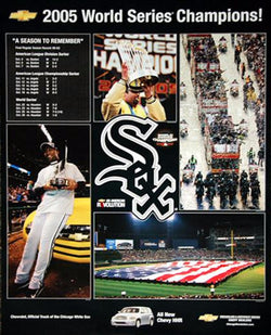 "Chicago White Sox ""Sweet Victory"" 2005 World Series Champions Poster - Chicagoland Chevy 2005"