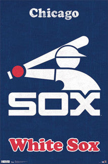 Chicago White Sox Retro Logo (1976-90) Poster - Costacos Sports