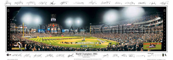Chicago White Sox 2005 World Champions 2005 Panoramic Poster Print (w/25 Sigs.) - Everlasting