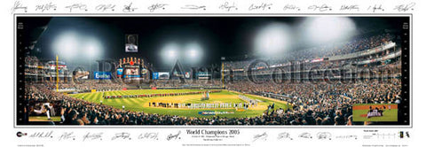 Chicago White Sox 2005 World Champions Panoramic Poster Print (w/25 Sigs.) - Everlasting