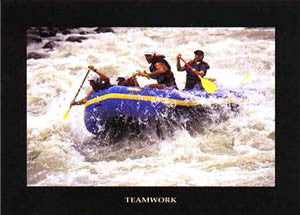 "Whitewater Rafting ""Teamwork"" Motivational Poster - Verkerke"