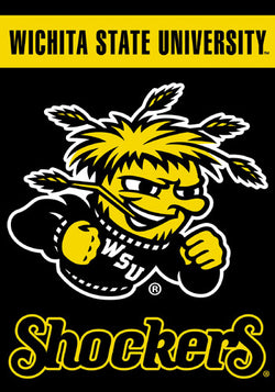 Wichita State Shockers Official 28x40 NCAA Premium Team Banner - BSI Products