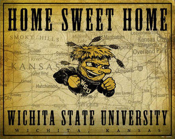 "Wichita State Shockers ""Home Sweet Home"" Poster Print - ProGraphs Inc."