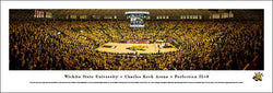 "Wichita State Shockers Basketball Koch Arena Game Night ""31-0"" Panoramic Poster Print - Blakeway 2014"