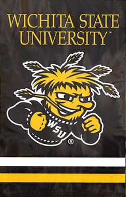 Wichita State Shockers Premium Applique Banner Flag - Party Animal