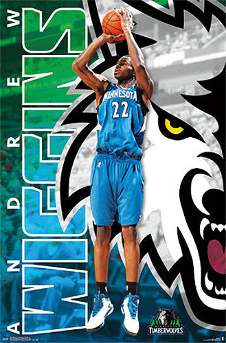 "Andrew Wiggins ""Superstar"" Minnesota Timberwolves Official NBA Basketball Poster - Costacos 2015"