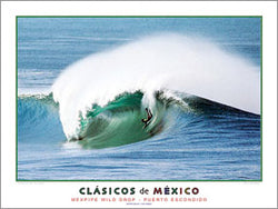 "Surfing ""Mexpipe Wild Drop"" (Puerto Escondido) Poster Print - Creation Captured"