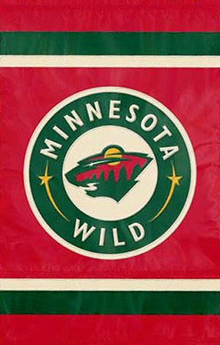 Minnesota Wild Official NHL Hockey Premium Applique Team Banner Flag - Party Animal