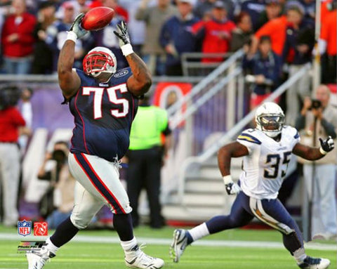 "Vince Wilfork ""HUGE Interception!"" New England Patriots Premium Poster Print - Photofile 16x20"