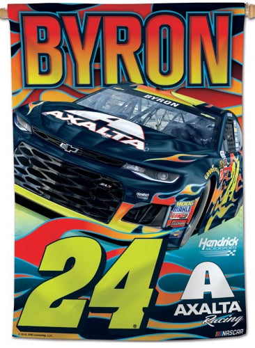 William Byron NASCAR Axalta #24 Premium Collector's WALL BANNER - Wincraft Inc.