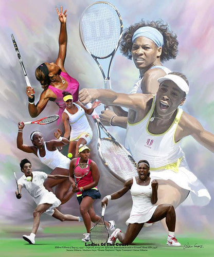 African-American Women Tennis Stars Poster Print feat. Venus and Serena Williams - Wishum Gregory