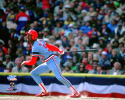 Willie McGee 1982 World Series Classic St. Louis Cardinals Premium Poster Print - Photofile