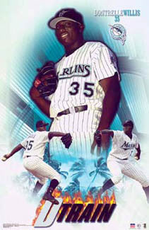 "Dontrelle Willis ""D-Train"" Florida Marlins Poster - Starline 2003"