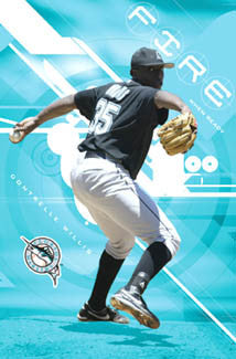 "Dontrelle Willis ""Fire When Ready"" Florida Marlins MLB Poster - Costacos 2006"