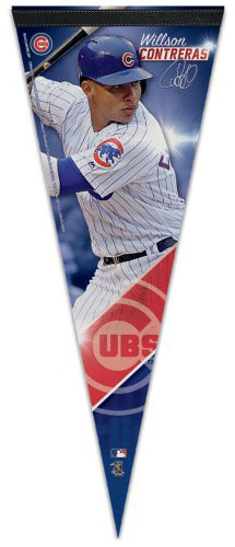 Willson Contreras Chicago Cubs Signature Series Premium Felt Collector's PENNANT - Wincraft
