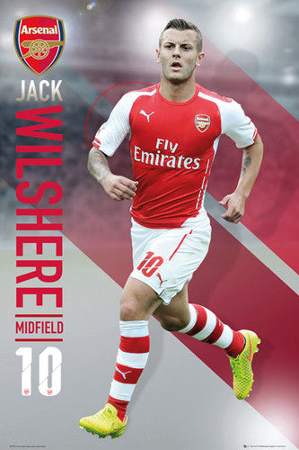 "Jack Wilshere ""Superstar"" Arsenal FC Soccer Superstar Action Poster - GB Eye 2015"
