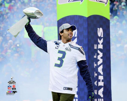 "Russell Wilson ""Your Trophy"" Seattle Seahawks Premium Poster Print (2014) - Photofile 16x20"