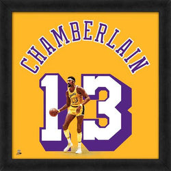 "Wilt Chamberlain ""Number 13"" L.A. Lakers Classic NBA FRAMED 20x20 UNIFRAME PRINT - Photofile"