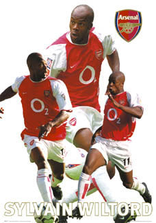 "Sylvain Wiltord ""Bright Star"" Arsenal FC Poster - GB 2003"