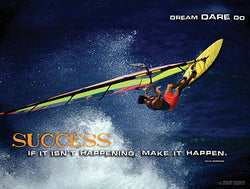"Windsurfing ""Success"" Motivational Inspirational Poster - Jaguar Inc."