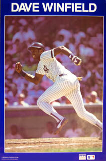 "Dave Winfield ""Extra Bases"" New York Yankees Poster - Starline 1987"