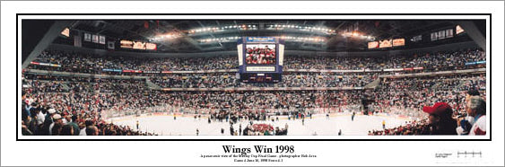 "Detroit Red Wings ""Wings Win 1998"" Stanley Cup Panorama Poster - Everlasting Images"