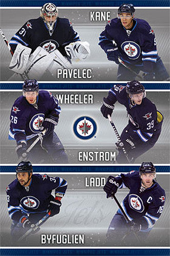 "Winnipeg Jets ""Super Six"" NHL Action Poster - Costacos Sports 2013"
