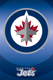 Winnipeg Jets Official NHL Hockey Team Logo Poster - Trends International