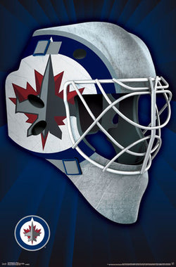 "Winnipeg Jets ""Mask"" NHL Hockey Official Team Logo Theme Wall POSTER - Trends 2016"