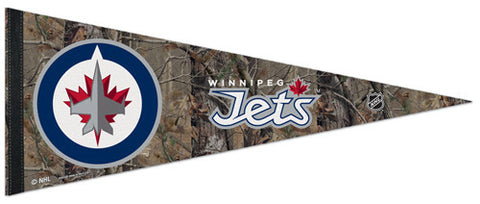 "Winnipeg Jets ""Realtree Camo"" Official NHL Hockey Premium Felt Pennant - Wincraft Inc."