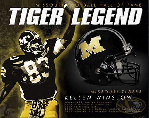"Kellen Winslow ""Tiger Legend"" Missouri Football Hall of Fame Premium Poster Print - ProGraphs"