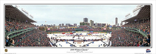 Wrigley Field 2009 Winter Classic Chicago Blackhawks Panoramic Poster - Everlasting