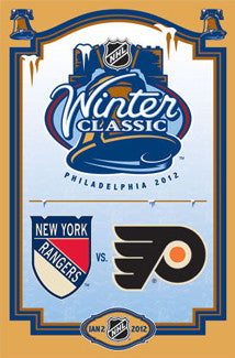 Winter Classic 2012 (Philadelphia Flyers vs. New York Rangers) Official Event Poster - Costacos Sports