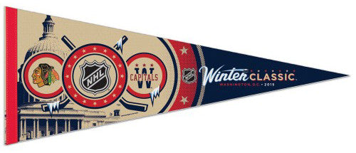 NHL Winter Classic 2015 Blackhawks at Capitals, Washington DC Premium Felt Pennant - Wincraft