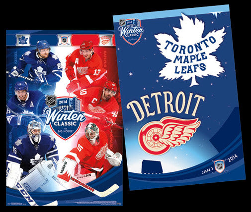 NHL Winter Classic 2014 (Toronto vs. Detroit) 2-Poster Combo - Costacos Sports