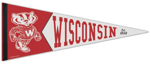 24821dc9675 Wisconsin Badgers NCAA College Vault 1950s-Style Premium Felt Collector s  Pennant - Wincraft Inc. – Sports Poster Warehouse