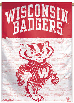 Wisconsin Badgers NCAA College Vault Series 1950s-Style Official NCAA Premium 28x40 Wall Banner - Wincraft Inc.