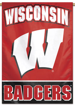 Wisconsin Badgers Official NCAA Team Logo Style NCAA Premium 28x40 Wall Banner - Wincraft Inc.