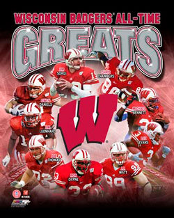 Wisconsin Badgers Football All-Time Greats (9 Legends) Premium Poster Print - Photofile Inc.
