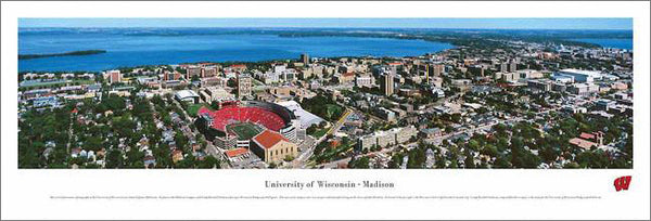 University of Wisconsin-Madison Aerial Panoramic Poster Print - Blakeway