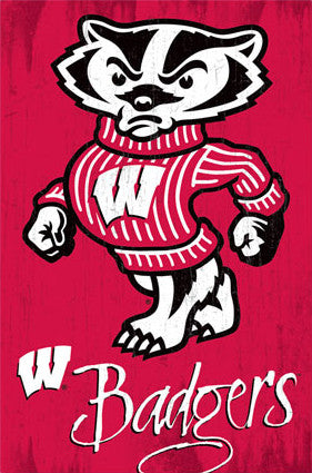 "University of Wisconsin Badgers ""Bucky"" Official NCAA Logo Poster - Costacos 2013"
