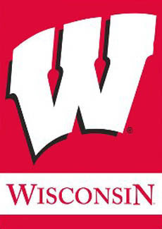 "Wisconsin Badgers ""Big W"" Official NCAA Wall Scroll Banner - BSI Products"