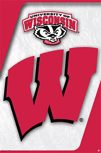 Wisconsin Badgers Official NCAA Team Logo Poster - Costacos Sports